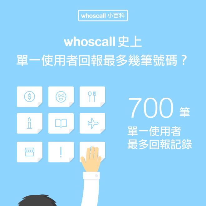 【Whoscall 小百科】Whoscall 史上單一使用者回報最多幾筆號碼?