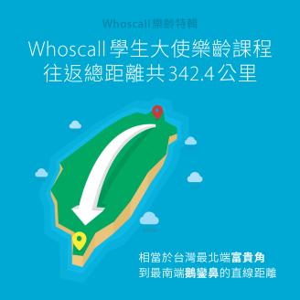 【Whoscall 樂齡特輯】 Whoscall 學生大使樂齡課程往返總距離共 342.4 公里